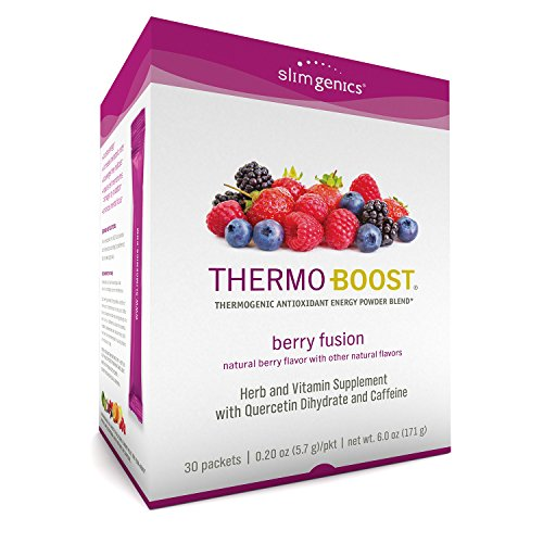 SlimGenics Thermo-Boost  | Thermogenic Thermo Burn Powder Energy Drink Mix – Antioxidant, Anti-Aging Properties - Metabolism Booster for Weight Loss - (Berry Fusion Flavor)