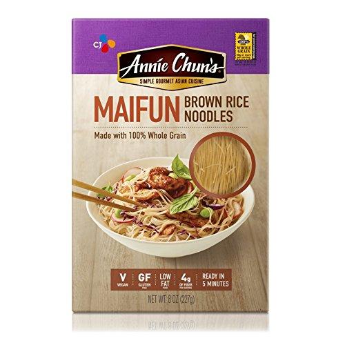 Annie Chun's Brown Rice Noodles, Maifun | Vegan, 8-oz (Pack of 6) | Whole Grain | Gluten-Free Alternative to Angel Hair Pasta