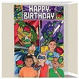 Nickelodeon Ninja Turtles Scene Setters Wall Banner Decorating Kit Birthday Party Supplies Plus 12 Photo Props