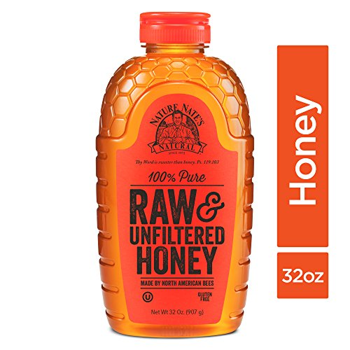 Nature Nate's 100% Pure, Raw & Unfiltered Honey; 32oz. Squeeze Bottle; Award-Winning Taste