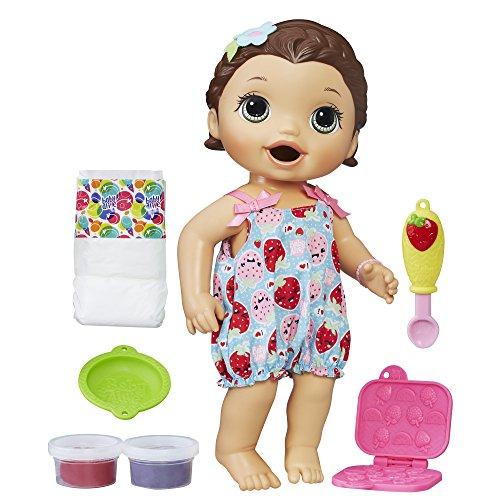 Baby Alive Super Snacks Snackin' Lily (Brunette) (Amazon Exclusive),Multicolor,Medium