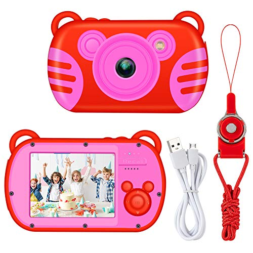 Kids Camera, LSLYA Kids Digital Camera with Small Game, Kids Proof Video Camera with 2.7 Inch HD Screen,Cameras for Girls Best Birthday Toys, Children Digital Cameras for Girls Toys(Red)