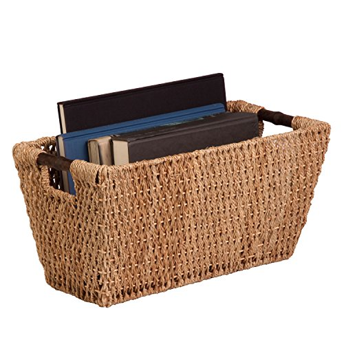 Honey-Can-Do STO-02966 Sea Grass Basket Tote with Handles, 20.25 by 10.5 by 10-Inch, Natural