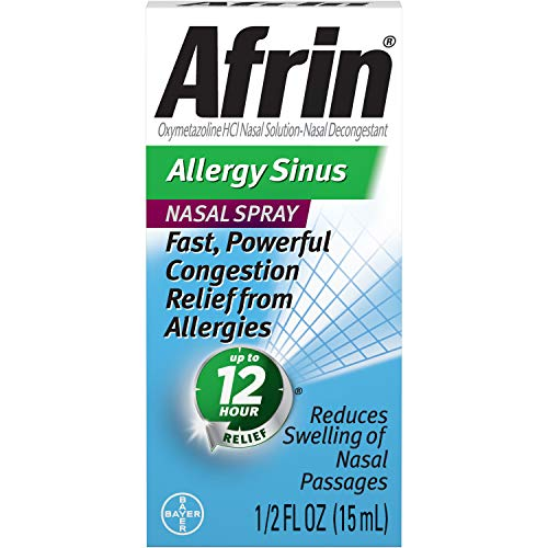 Afrin Allergy Sinus Nasal Spray 0.50 oz ( Pack of 2)