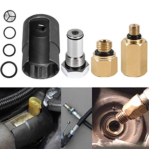 6.0 IPR Valve Socket with Seal Kit & Fuel Rail Adapters & 6.0 HPOP Air Test Fitting Tool fits for Ford 6.0L Powerstroke Diesel