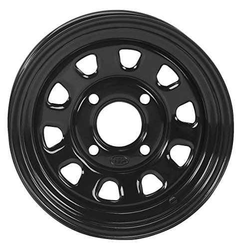 ITP Delta Steel Wheel - 12x7 - 5+2 Offset - 4/110 - Black , Bolt Pattern: 4/110, Rim Offset: 5+2, Wheel Rim Size: 12x7, Color: Black, Position: Front/Rear 1225553014