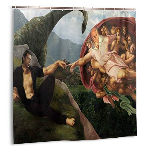 Funny Jeff Goldblum Shower Curtain Waterproof Polyester Fabric Shower Curtain Set (72x72 in)
