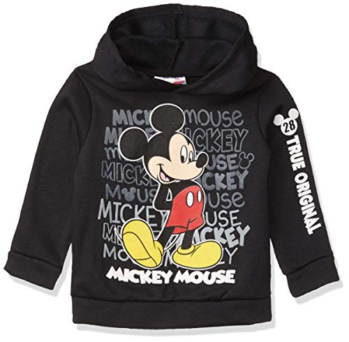 Disney Mickey Mouse Boys Athletic Fleece Pullover Hoodie Black 3T