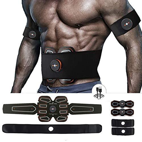 MBODY ABS Muscle Toner Abdominal Toning Workout Belt Body Training Gear Fitness Equipment Full Set for Abdomen/Arm/Leg Training(USB Charging)