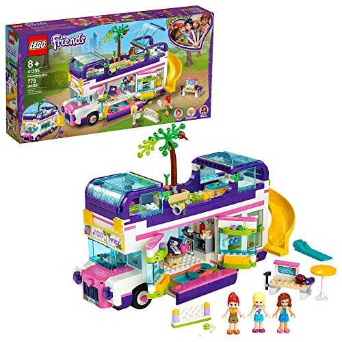 LEGO Friends Friendship Bus 41395 Heartlake City Toy Playset Building Kit Promotes Hours of Creative Play (778 Pieces)