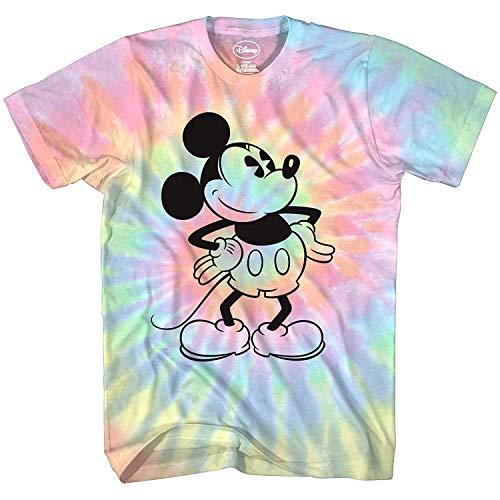 Mickey Mouse Attitude Tie Dye Classic Vintage Disneyland World Mens Adult Graphic Tee T-Shirt Apparel (Blue Tie Dye, Medium)