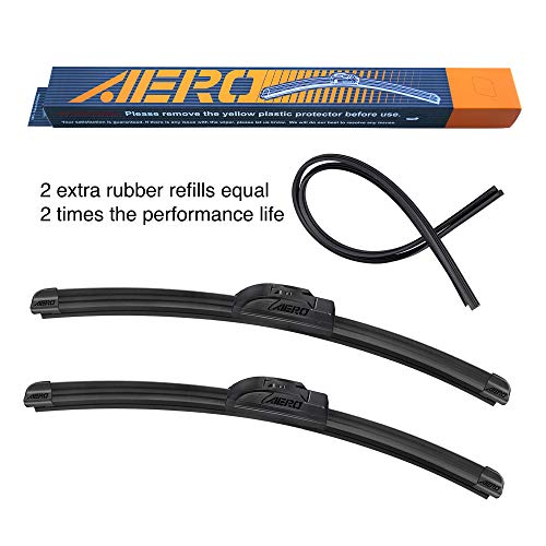 AERO Voyager 26' + 16' OEM Quality Premium All-Season Windshield Wiper Blades with Extra Rubber Refill + 1 Year Warranty (Set of 2)