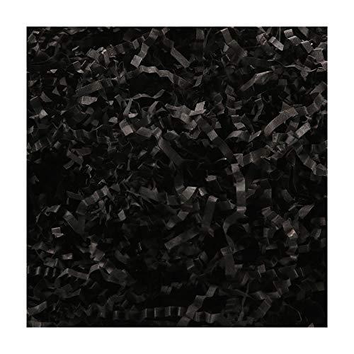 PACKHOME 1 LB Crinkle Cut Paper Shred Filler, Black Shredded Paper for Gift Baskets, Crinkle Paper for Gift Wrapping