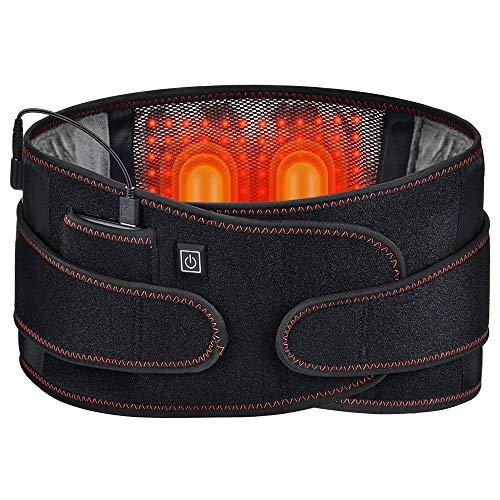 HailiCare Wireless Heating Back Belt for Lower Back Pain, Heat Back Belt Heating Pad for Back Pain Relief, Power Bank, Rechargeable Waist Heating Belt for Stomach, Legs, Lumbar, Abdomen Pain Relief