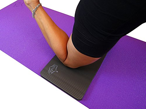 SukhaMat Yoga Knee Pad - New! 15mm (5/8') Thick - The Best Yoga Knee pad for a Pain Free Fitness Exercise Workout. Cushions Pressure Points. Complements Your Full-Size Yoga mat. (Black)