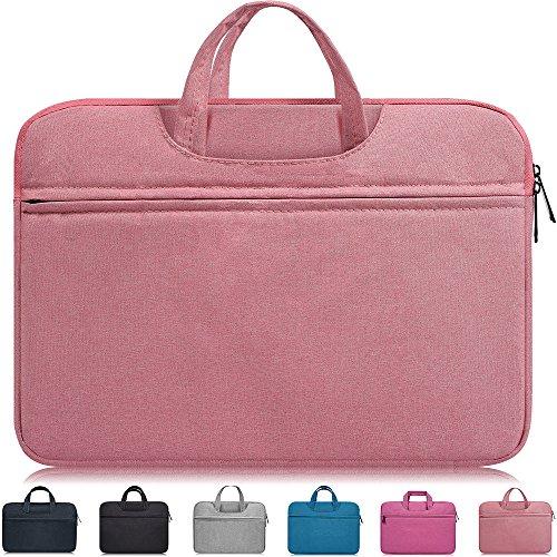 Dealcase 14-15 Inch Waterproof Laptop Sleeve Case Compatible Acer Chromebook 14/Acer Aspire 14',HP Stream 14'/Pavlilion 14/ProBook 14,ASUS Zenbook,LG gram 14',Samsung Dell HP 14 inch Notebook Bag,Pink