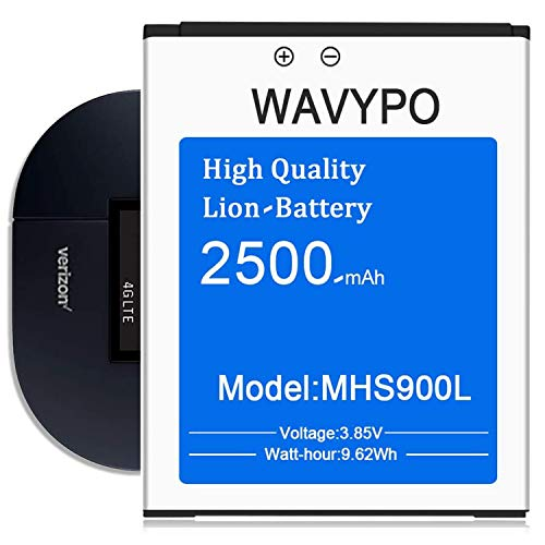 (Upgraded) MHS900L Battery, 2500mAh Wavypo Higher Capacity New 0 Cycle Replacement Battery for Verizon Ellipsis Jetpack MHS900L PP-18 Months Service