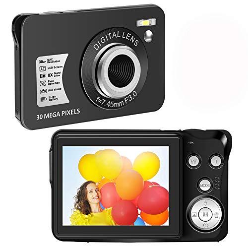 Digital Camera HD 1080P Vlogging Camera 30 MP Mini Camera 2.7 Inch LCD Screen Camera with 8X Digital Zoom Compact Cameras for Adult, Kids, Beginners (1)