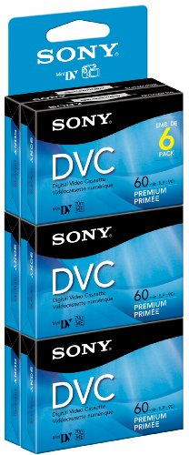Sony DVM60PRR/6 Premium Digital Video Cassette Brick - 6 Pack