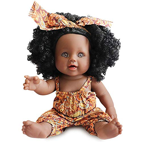 Nice2You Black Doll African Girl Baby Doll for Kids Fashion Play Doll 12inch Perfect for Birthday Christmas Gift