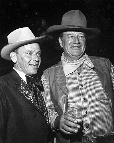 John Wayne & Frank Sinatra 8 x 10 * 8x10 Photo Picture
