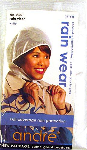 Rain Visor Rain Bonnet White