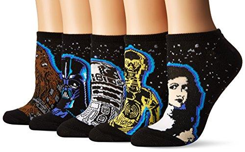 Star Wars Women's 40th Anniversary 5 Pack No Show Socks