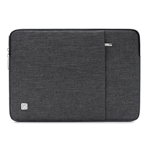 NIDOO 14 Inch Laptop Sleeve Water-Resistant Computer Case Portable Carrying Bag for 14' Notebook / 14' Lenovo ThinkPad E480 / Yoga 920/13.5' Microsoft Surface Book, Dark Grey