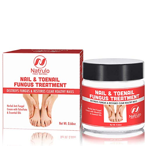 Natrulo Nail & Toenail Fungus Treatment - Herbal Anti Fungal Cream with Tolnaftate & Essential Oils - Destroys Fungus & Restores Clear Healthy Nails - Effective Proven Formula Made in the USA