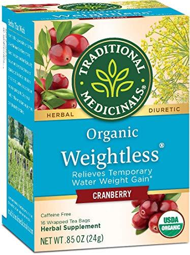 Traditional Medicinals Organic Weightless Herbal Tea Cranberry -- 16 Tea Bags - 2 pc