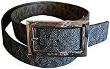 Michael Kors Women's Buckle Brown Logo Wide Belt Medium