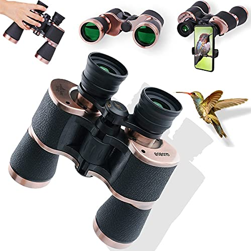 Qudodo 20x50 Binoculars for Adults with Phone Adapter,Professional Mg-Al Alloy Frame,BAK4 Prism FMC Lens,HD Compact Waterproof Fogproof-Low Light Night Vision for Birdwatching,Hunting,Concert,Safari