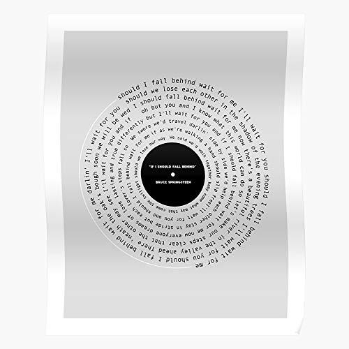 NakNak Behind Boss The Fall Record If Springsteen Bruce I Vinyl Should 90S Music Lyrics | Impressive and Trendy Poster Print Decor Wall or Desk Mount Options