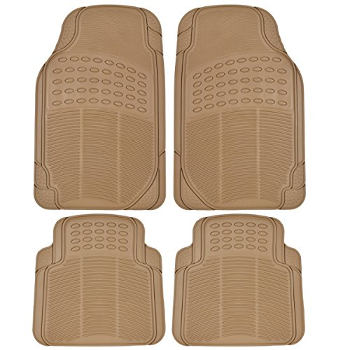BDK Heavy Duty 4pc Front & Rear Rubber Floor Mats for Car SUV Van & Truck-All Weather Protection Universal Fit