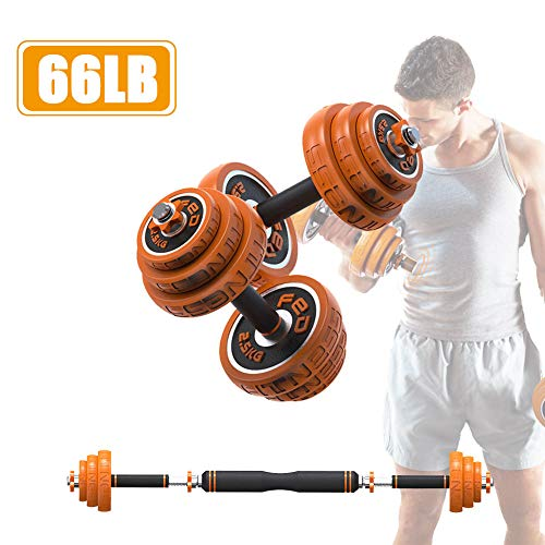 LIJIE Adjustable Dumbbells Barbell Weights Set Home Weight with Connector, Lifting Dumbells for Body Workout Home Gym Fitness Dumbbells Set for Men and Women,66LB