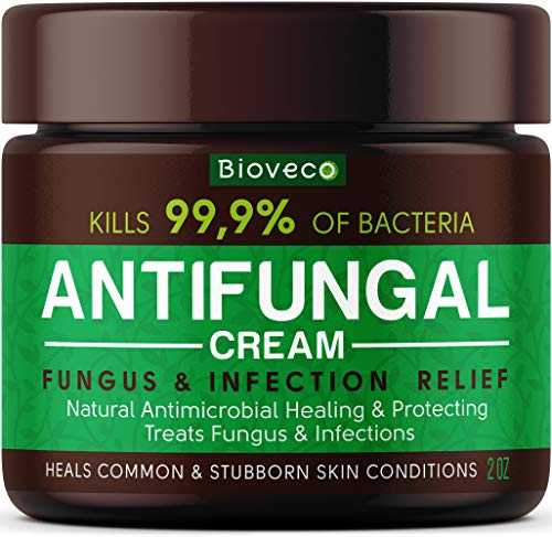 Antifungal Cream - Toenail Fungus Treatment & Athletes Foot Cream - Made in USA - Powerful Skin Fungus Cream - Eczema, Jock Itch & Ringworm Treatment - Natural Anti Itch Cream - 2 OZ