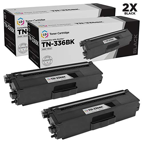 LD Compatible Toner Cartridge Replacement for Brother TN336BK High Yield (Black, 2-Pack)