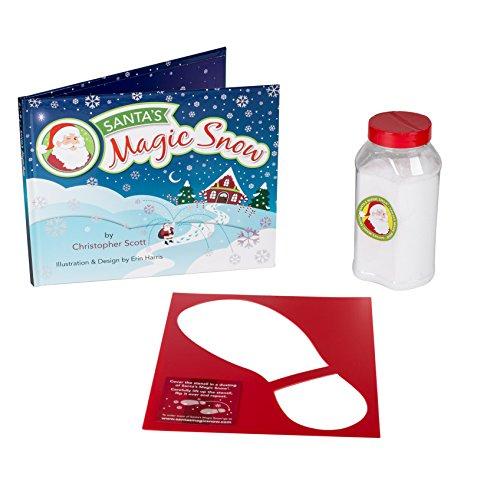 Santa's Magic Snow Book Snow and Boot Stencil 3 Piece Kit