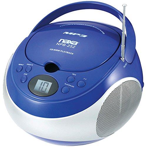 Naxa Electronics NPB-252 Portable MP3/CD Player with AM/FM Stereo Radio (Blue)