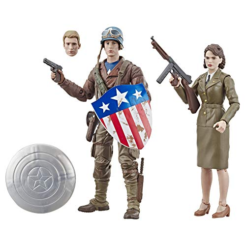 Marvel Legends Series Captain America: The First Avenger 6'-Scale Movie-Inspired Captain America & Peggy Carter Collectible Action Figure 2 Pack (Amazon Exclusive)