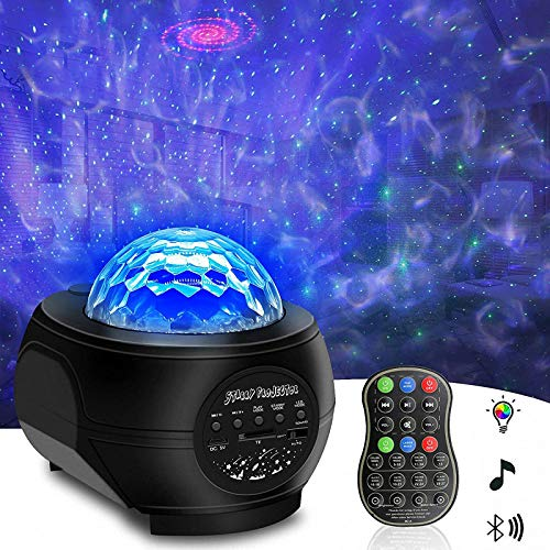 Star Light Projector, Tenei 2 in 1 Ocean Wave Night Light Projector with Remote Control, Galaxy Projector with LED Nebula Cloud with Music Player Speaker for Kids Teens Adults Bedroom