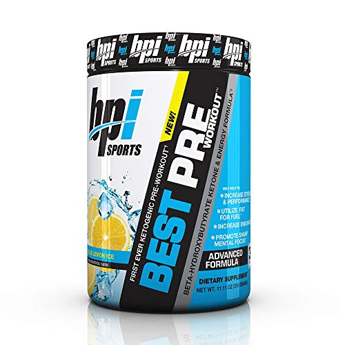 BPI Sports Ketogenic Pre-Workout Supplement - Best Pre-Workout - Carb-Free - Burns Fat for Energy - Helps Preserve Lean Muscle Mass - Improved Focus - Blue Lemon Ice - 30 Servings - 11.11 oz.