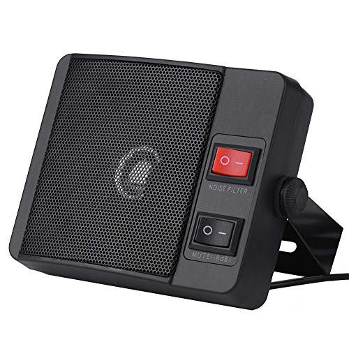 Mini Walkie Talkie External Speaker 11W Noise Cancelling External CB Scanner Speaker for YAESU Two Way Car Mobile Radio