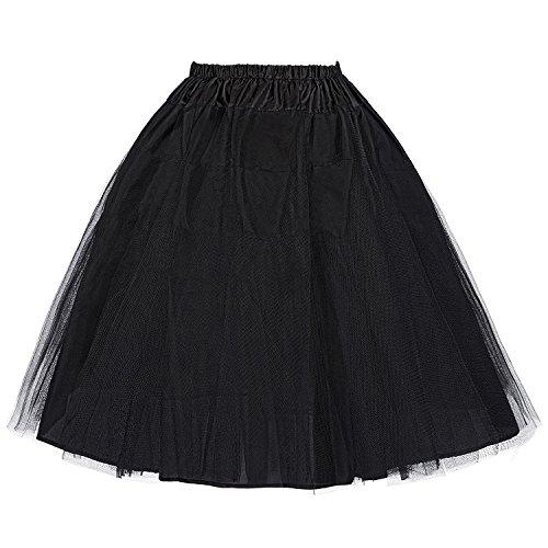 Belle Poque Short Petticoat Net Underskirt for Celebrity Dresses Black M