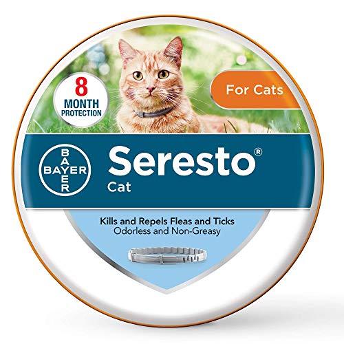 Seresto contre les puces et les tiques pour les chats, collier anti-puces de 8 mois pour les chats