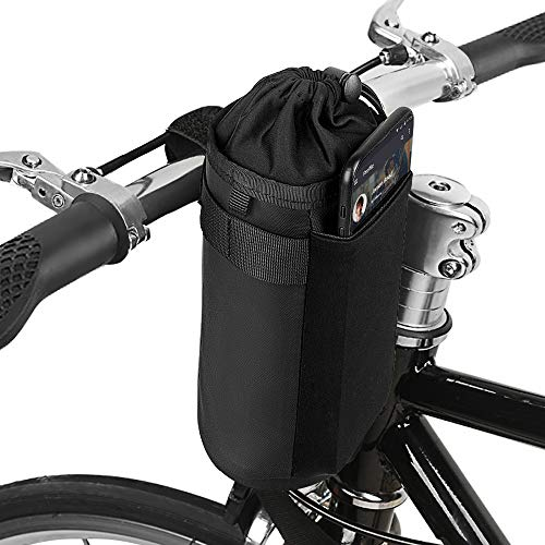 Bike Bicycle Water Bottle Holder Bag - Handlebar Cup Drink Holder Insulated Stem Bag Attachment Bicycle Cup Holder Water Bottle Drink Holder Food Snack Storage for huffy,Mountain,Pushchair (gray)