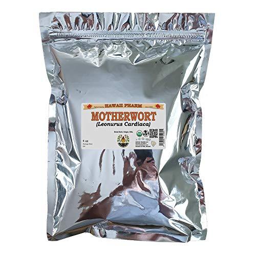 Certified Organic Motherwort, Lion's Tail (Leonurus Cardiaca) Dried Herb 4 oz