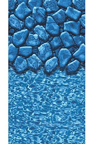 Smartline Boulder Swirl 24' Round Above-Ground Swimming Pool Overlap Liner   20 Gauge   48' / 52' Wall Height (24' Round)