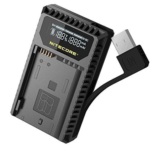 Nitecore UNK1 Digital USB Camera Charger for Nikon Batteries EN-EL14, EN-EL14a, & EN-EL15 with Lumen Tactical Adapter - Compatible with Nikon Coolpix, 1V1, P, & D Series