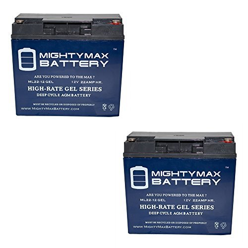 Mighty Max Battery 12V 22AH Gel Battery for Schumacher PSJ-3612 Jump Starter - 2 Pack Brand Product